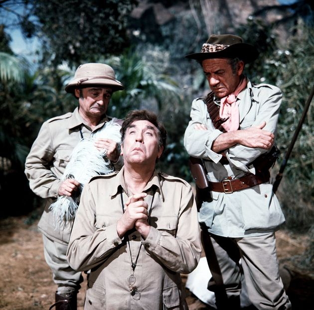 Kenneth Connor, Frankie Howerd and Sid James in 'Carry On Up The