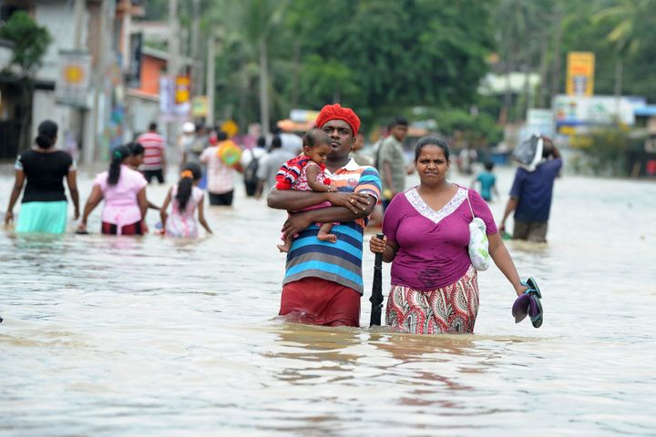 Floods and landslides caused by heavy rainfall in Sri Lanka have displaced more than 137,000 people.