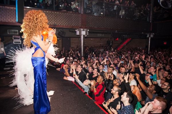NEW YORK, NY - MAY 16:  General view of the atmosphere during RuPaul's Drag Race Season 8 Finale Party at Stage 48 on May 16,