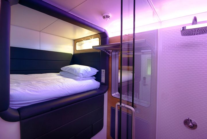 Yotel currently has sleep cabins available at airport locations in London and Amsterdam with plans to open additional ai