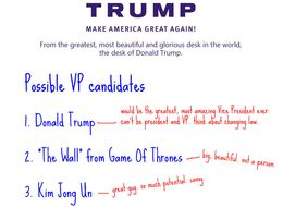 LEAKED: Donald Trump's List Of Potential Running Mates