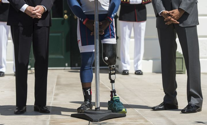A White House ceremony in April honors military members on the occasion of the Wounded Warrior Ride.