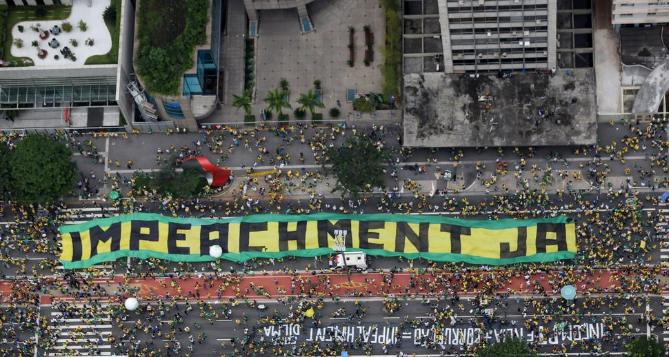 Millions of protesters have flooded the streets of major Brazilian cities like Sao Paulo to call for the impeachment of