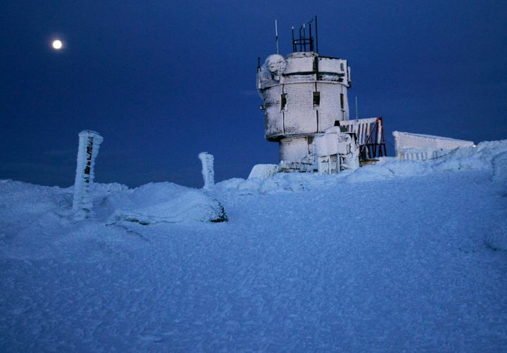 Mount Washington Observatory's tower, pictured, is located at the top of the tallest peak in the Northeast. The str
