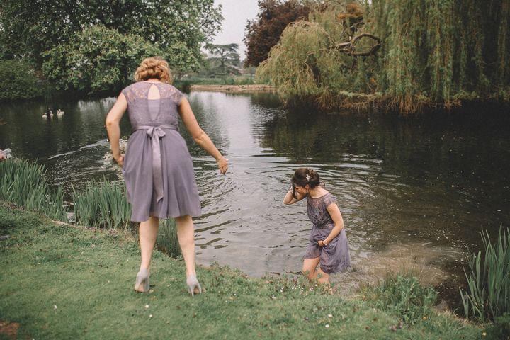 Faye in the lake.