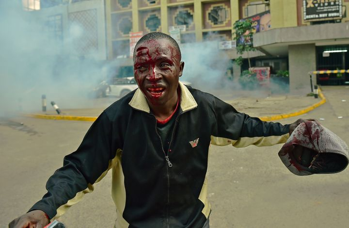 Kenya's police chief on Tuesday announced an internal inquiry into possible police wrongdoing after images of beatings