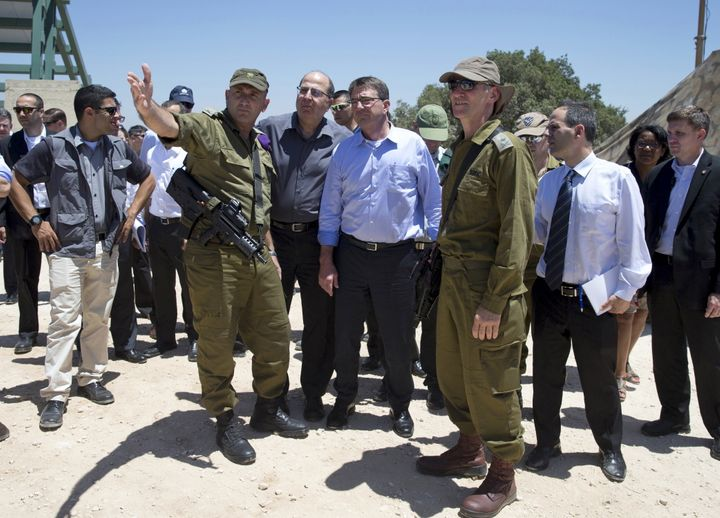 Israeli deputy chief of staff Yair Golan, seen at right, during a July meeting with U.S. Defense Secretary Ash Carter, is und