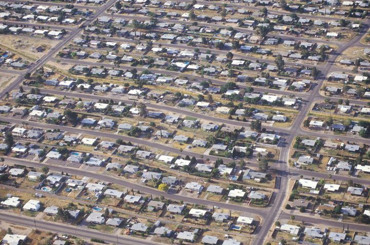 Urban sprawl in places like Arizona, pictured above, was the biggest contributor to natural land loss in the American West be