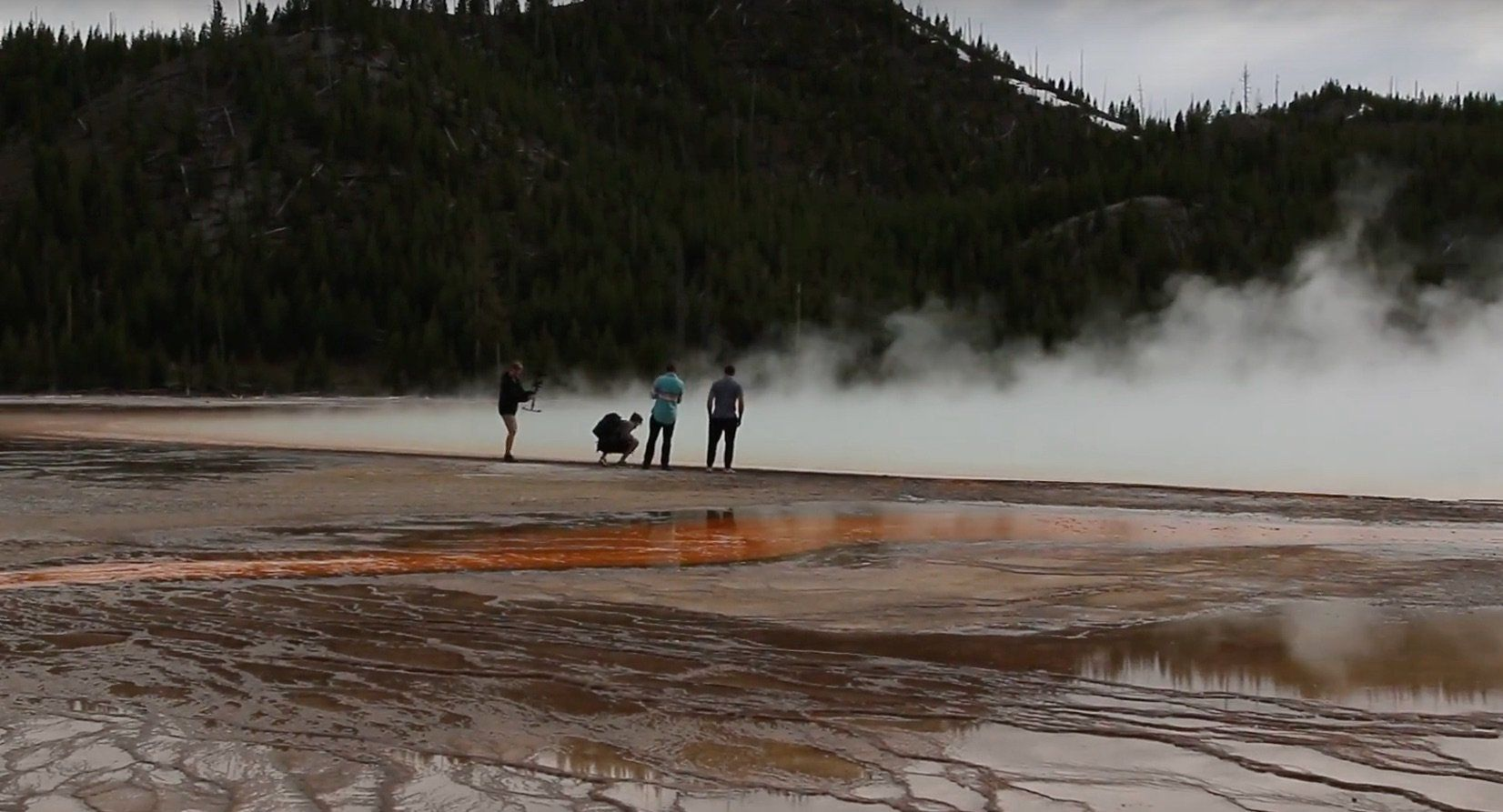 Morons at Yellowstone