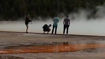 Morons at Yellowstone