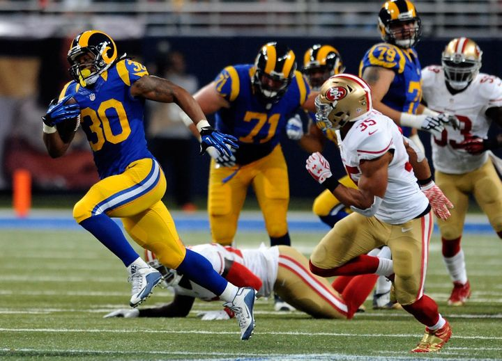 Gurley says that while he's not big on individual goals, becoming the league's rushing champ is one of them.