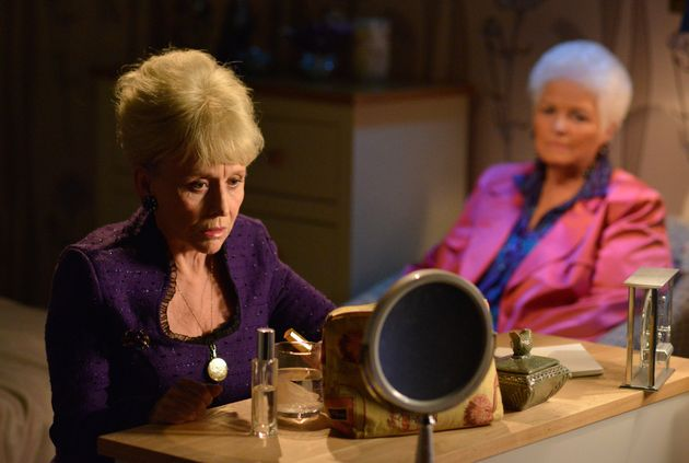 Pat Butcher appeared before Peggy in her final