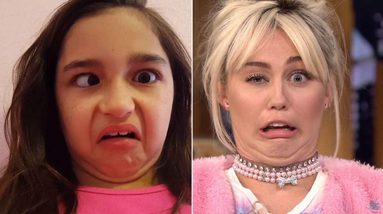 Miley Cyrus Had A Hilarious 'Funny Face Competition' With Jimmy Fallon