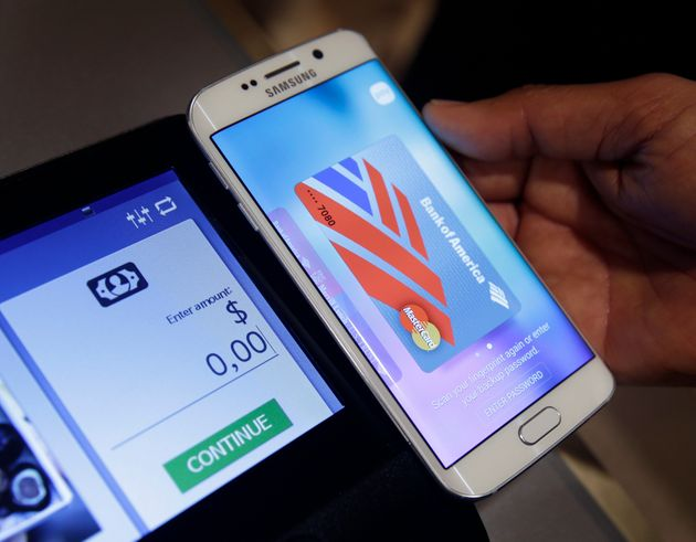 Samsung Pay is the company's own version of Android and Apple