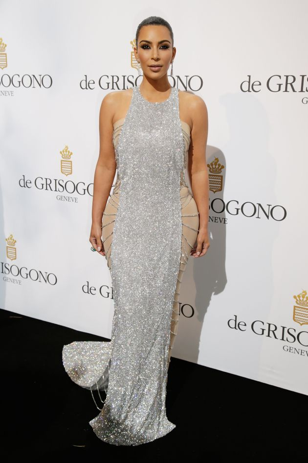 Kim Kardashian Wore The Blingiest Dress We've Ever Seen At
