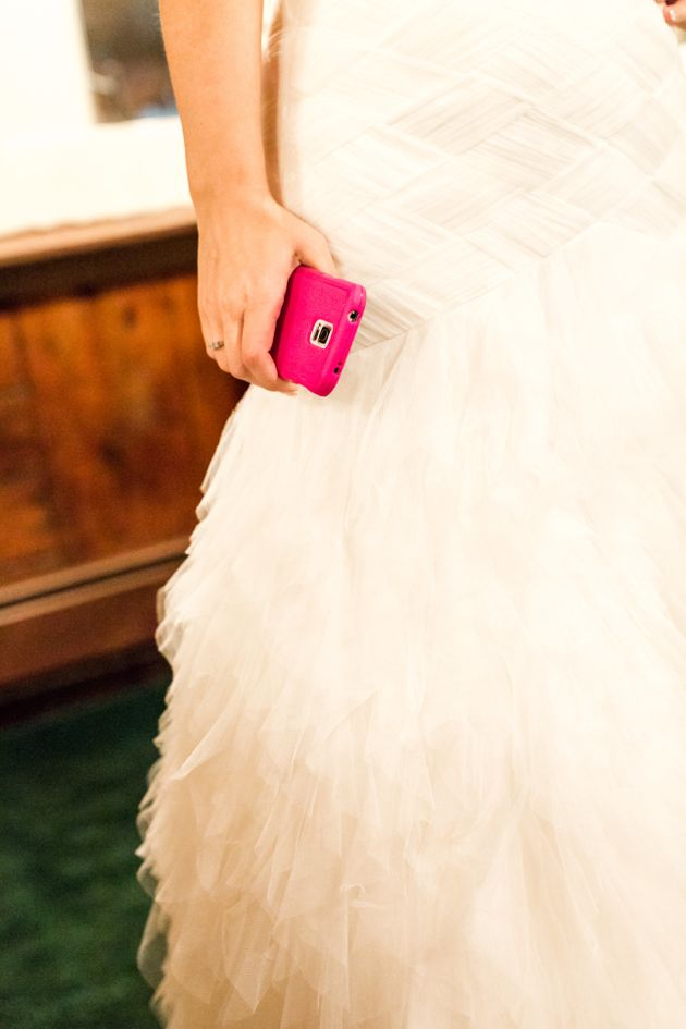 The bride is said to have angered her groom by ignoring him and answering texts on her mobile phone (file