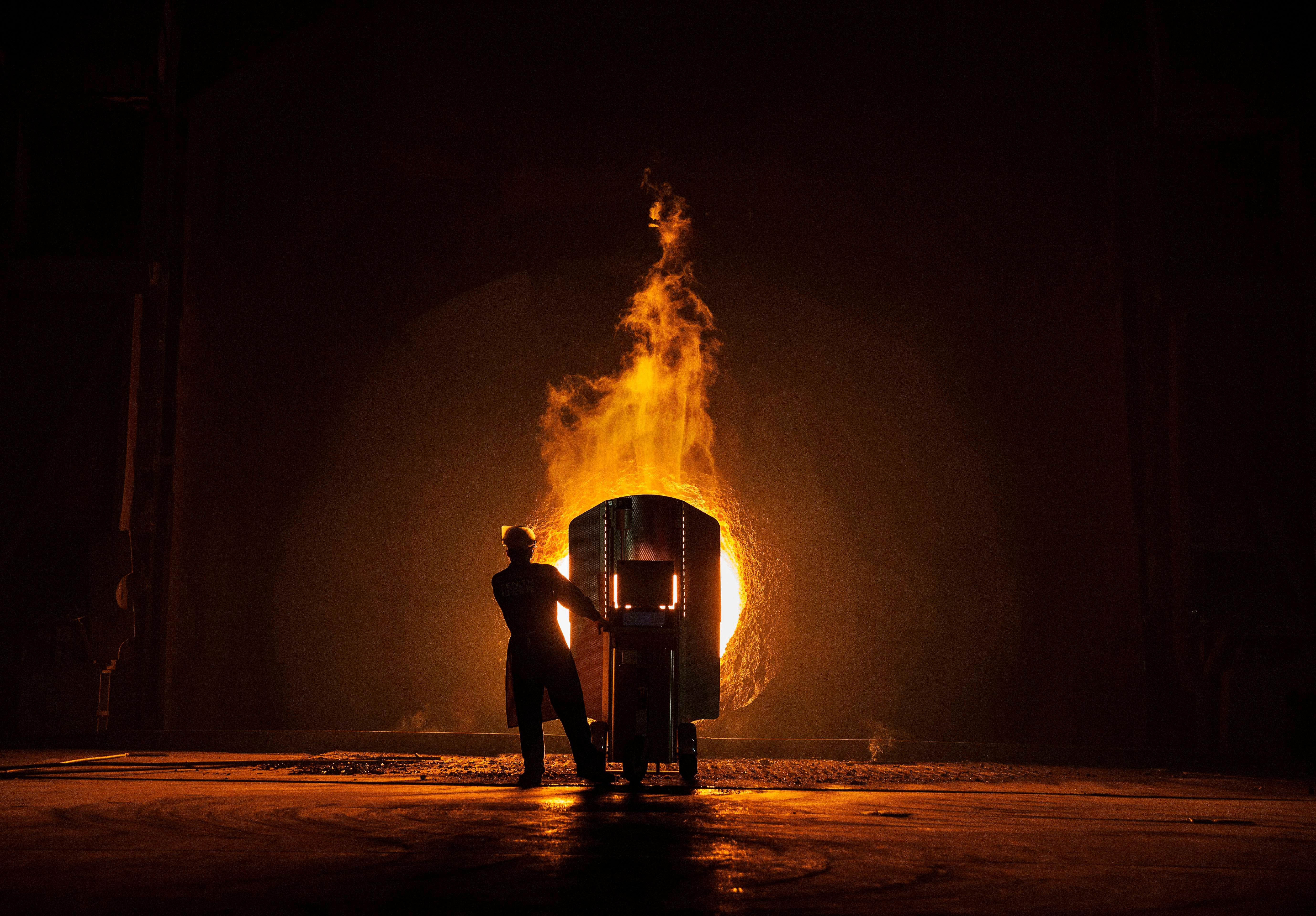 fiery photos take you inside a chinese steel plant huffpost