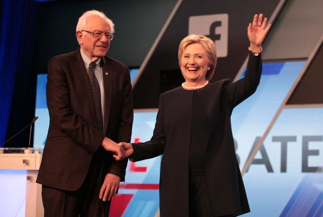 Sanders And Clinton Enter The Home