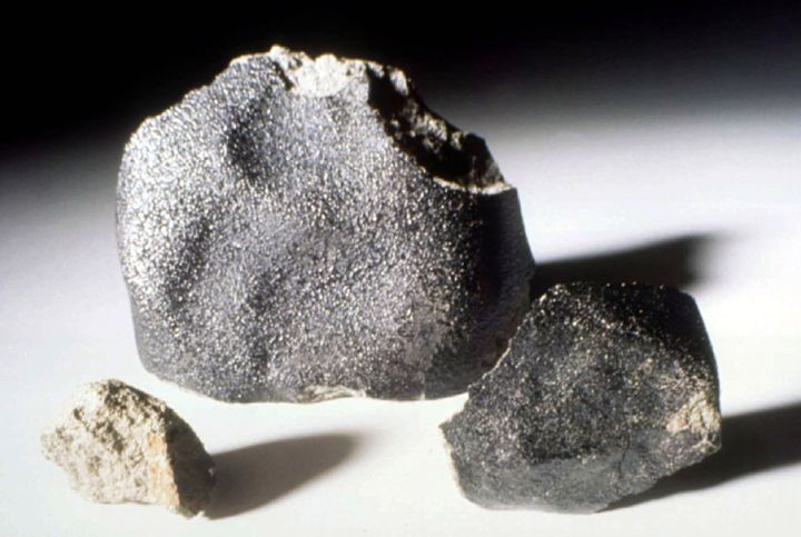 Meteorites can range from a few grams to several dozen tons in size. These Martian meteorites are seen at auction in New