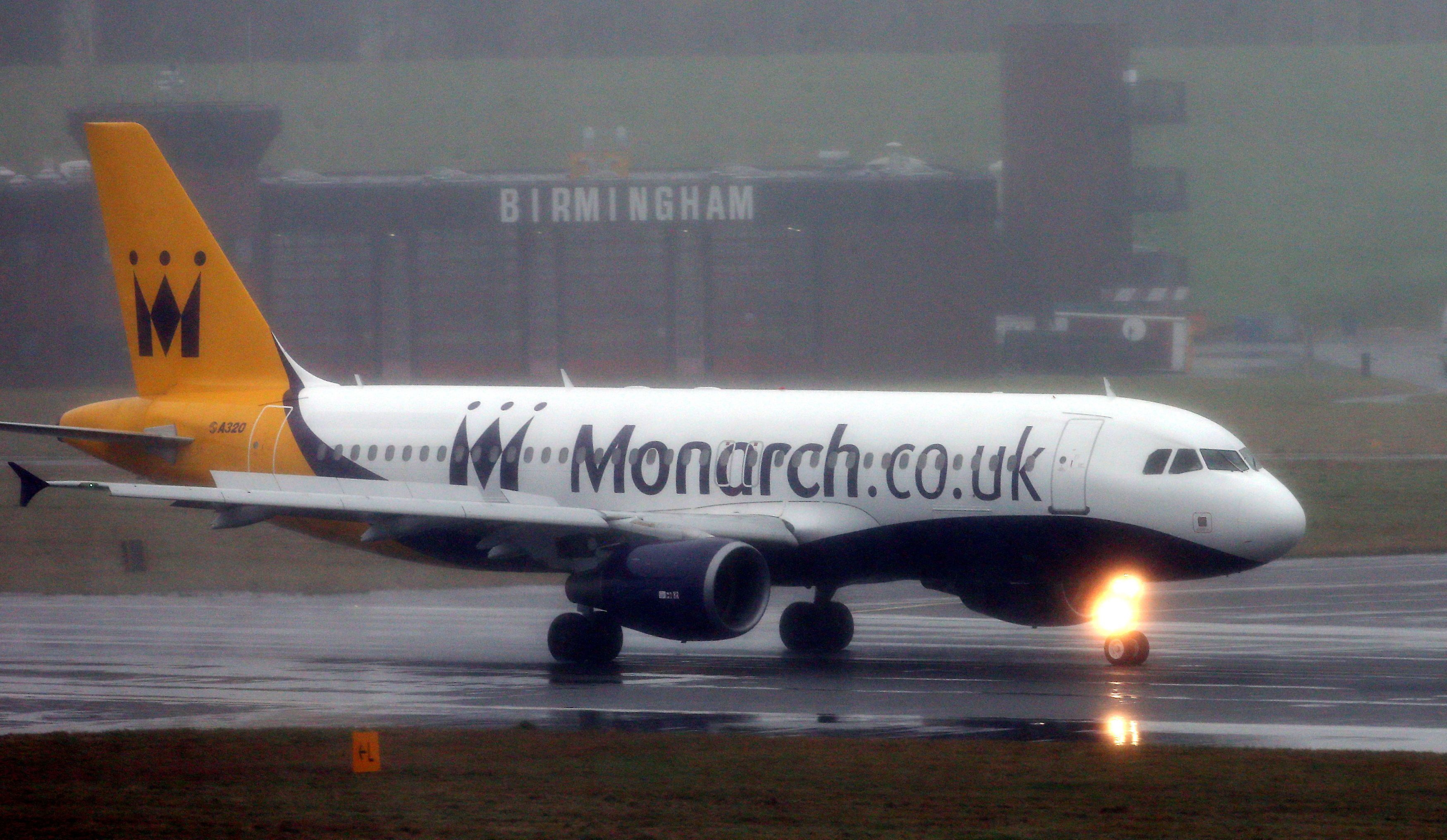 Two men removed themselves from a Monarch Airlines flight to Rome after fellow passengers claimed 'they...