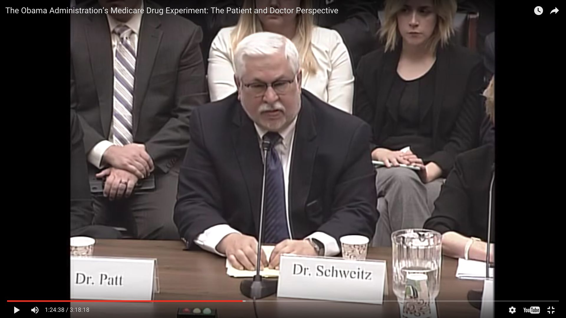 Michael Schweitz, a Florida physician, testifies before a House subcommittee at a hearing on Medicare May 17.