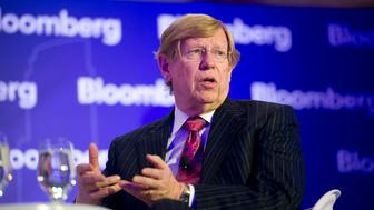 Theodore Olson, partner at Gibson, Dunn & Crutcher, speaks at the Bloomberg Year Ahead: 2014 conference in Chicago, Illinois, U.S., on Thursday, Nov. 21, 2013. It's important that 'the American people accept that decision and say, 'Yes, that's the right decision,'' Olson said regarding same-sex unions. Photographer: Daniel Acker/Bloomberg via Getty Images