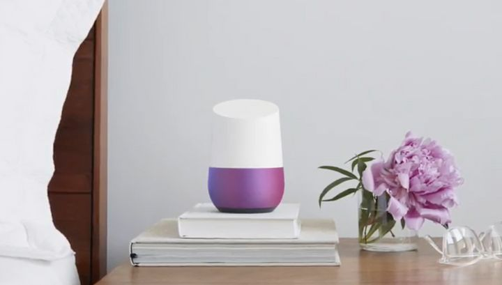A Google Home unit in its natural state.