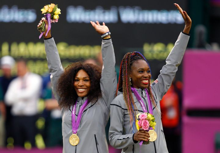 Venus and Serena Williams at the 2012 Olympics in London.