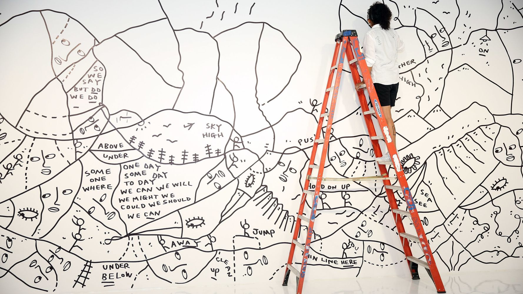 The Coloring Book That Turns Into One Stunning Panel Of Wall Art