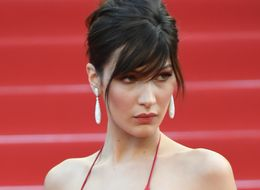 Bella Hadid Wears A Giant Slit With A Tiny Bit Of Dress Attached