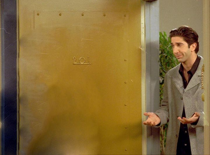 Ross talking to Ugly Naked Ghost.