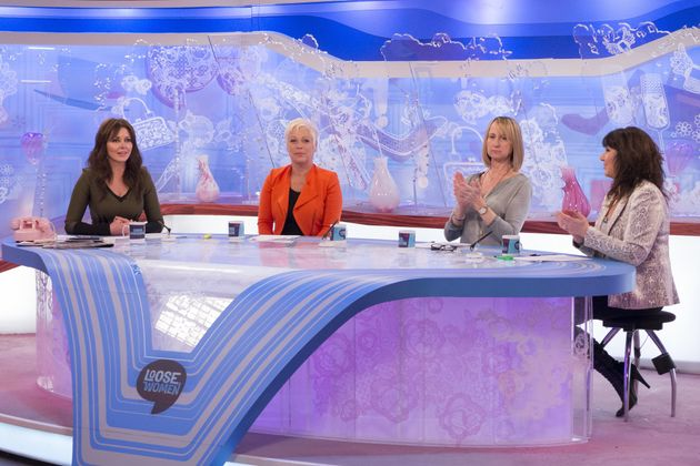 Carol Vorderman, Denise Welch, Carol McGiffin and Jane McDonald on the 'Loose Women' panel in