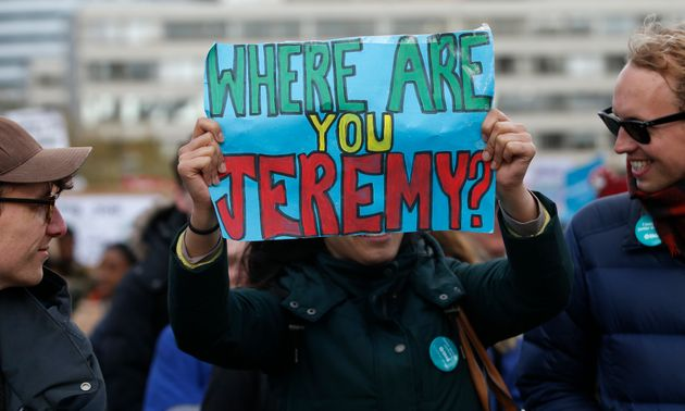 An angry protester campaigns during a junior doctors strike on April