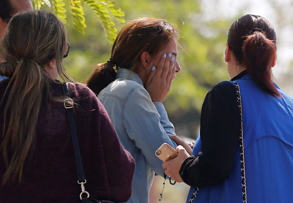 Unidentified relatives and friends of passengers who were flying in an EgyptAir plane that vanished from...