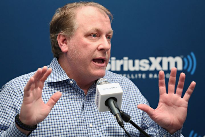 """I think he's a racist, I think he's a bigot,"" Curt Schilling (pictured during a previous interview) said of Stephen A."