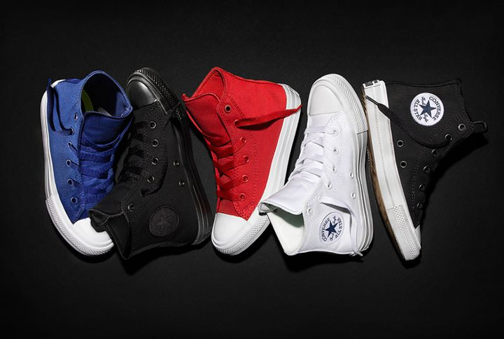 A selection of Converse's line of Chuck Taylor All Stars, which can range in price from $35 to more than $200.