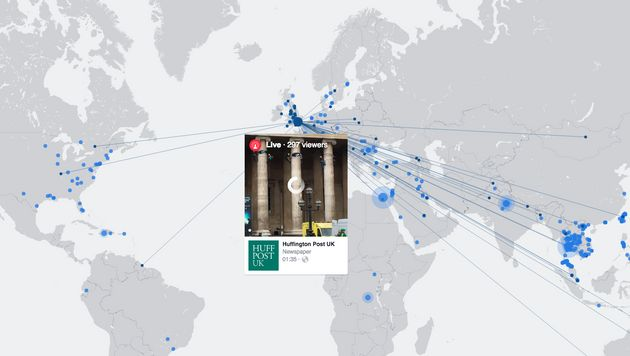 This Global Map Shows Facebook Live Videos From Around The World – Live Global Map