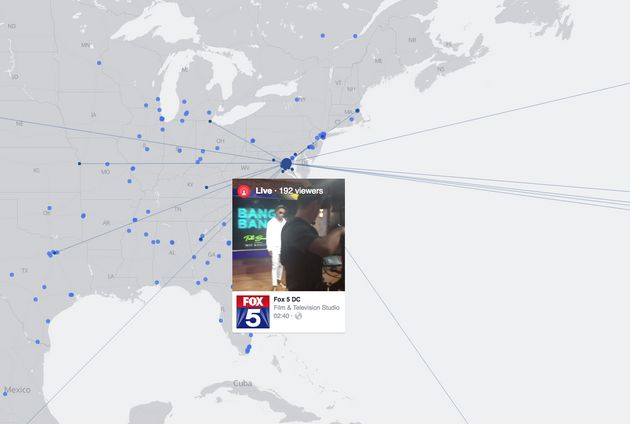 This Global Map Shows Facebook Live Videos From Around The