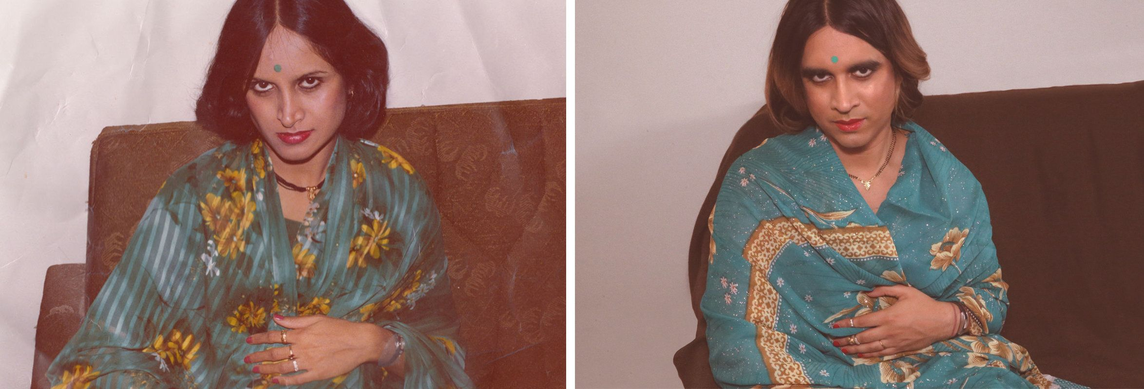 Vivek Shraya's mother (L) andVivek Shraya (R).