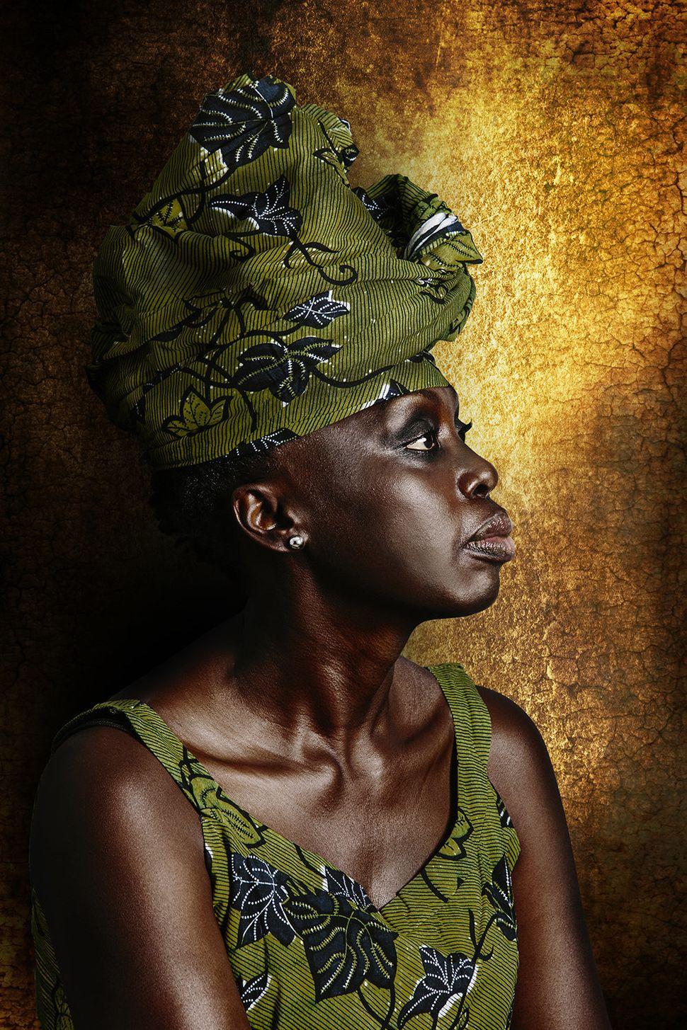 Danielle Niamke Asroumingoumin, 50 ans, est originaire de Grand-Bassam (sud-est de la Côte d'Ivoire) et fait partie du groupe ethnique