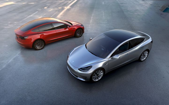 Employees at a North Carolina startup are being offered free Tesla Model 3s upon their release next year. The all-electric sp