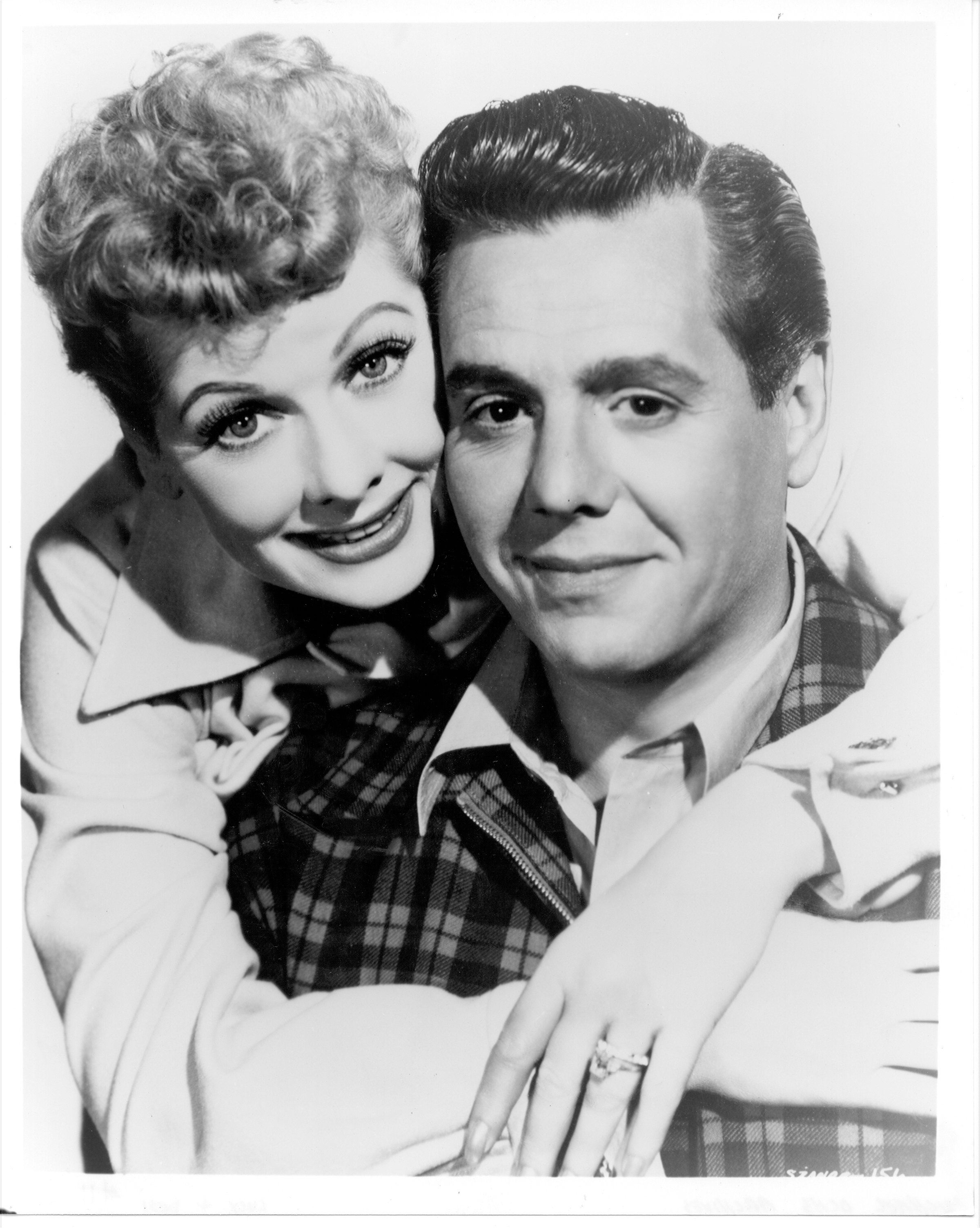 LOS ANGELES - 1956: Lucille Ball and Desi Arnaz pose for a portrait to promote their movie 'Forever Darling' in 1956 in Los Angeles, California. (Photo by Michael Ochs Archives/Getty Images)