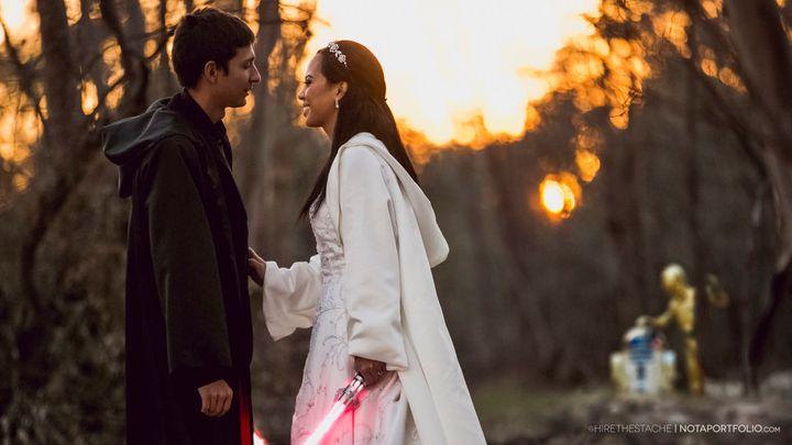 Krystel and Earle bonded over their love of Star Wars in high school.