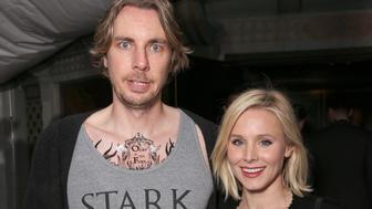 HOLLYWOOD, CALIFORNIA - APRIL 10:  Dax Shepard and Kristen Bell wear Game of Thrones Shirts at Tattoos on a date night at the premiere of HBO's 'Game Of Thrones' Season 6 at TCL Chinese Theatre on April 10, 2016 in Hollywood, California.  (Photo by Todd Williamson/Getty Images)