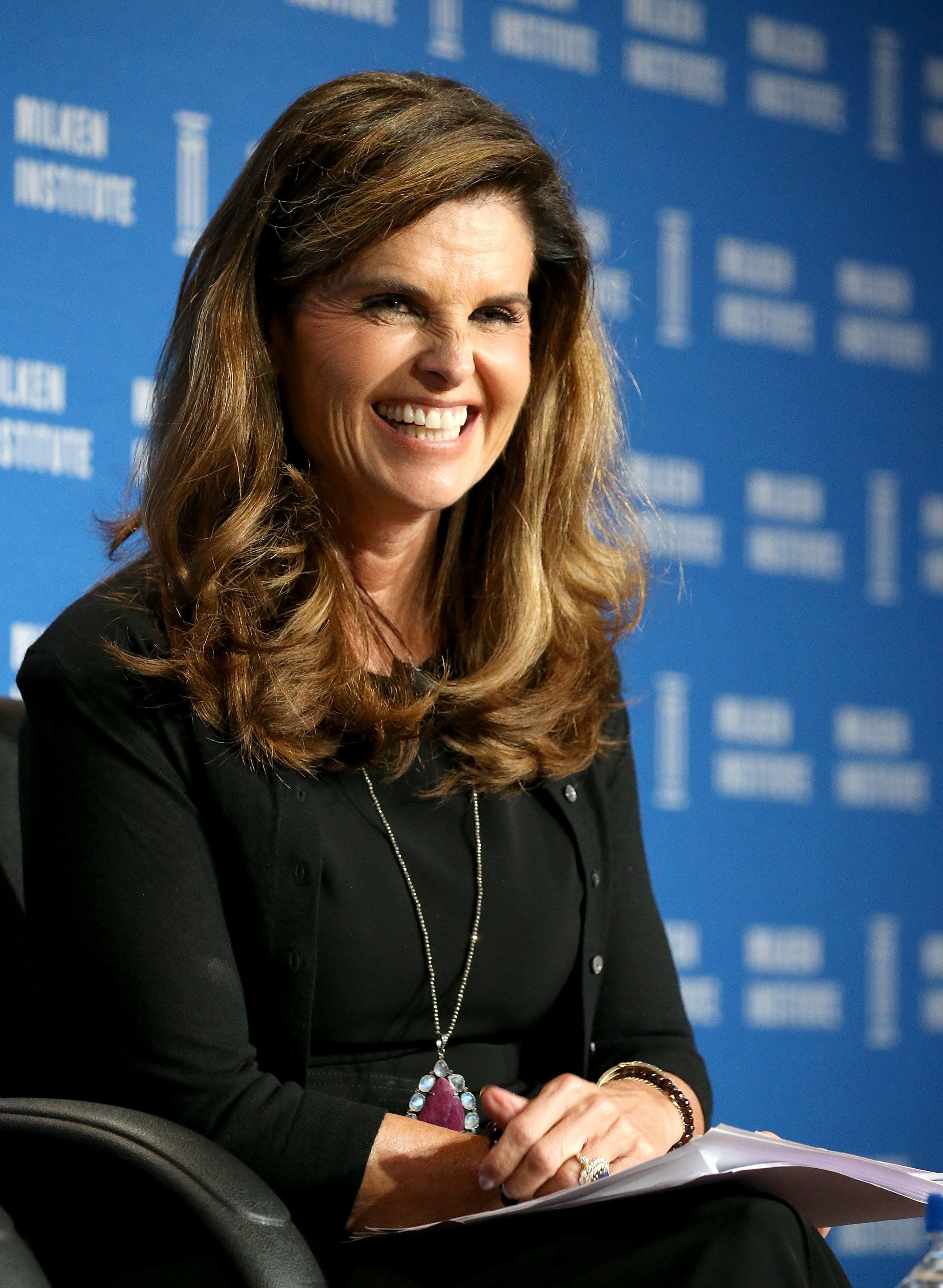 BEVERLY HILLS, CA - MAY 04:  Maria Shriver speaks onstage during the 2016 Milken Institute Global Conference held at The Beverly Hilton Hotel on May 04, 2016 in Beverly Hills, California.  (Photo by Michael Tran/FilmMagic)