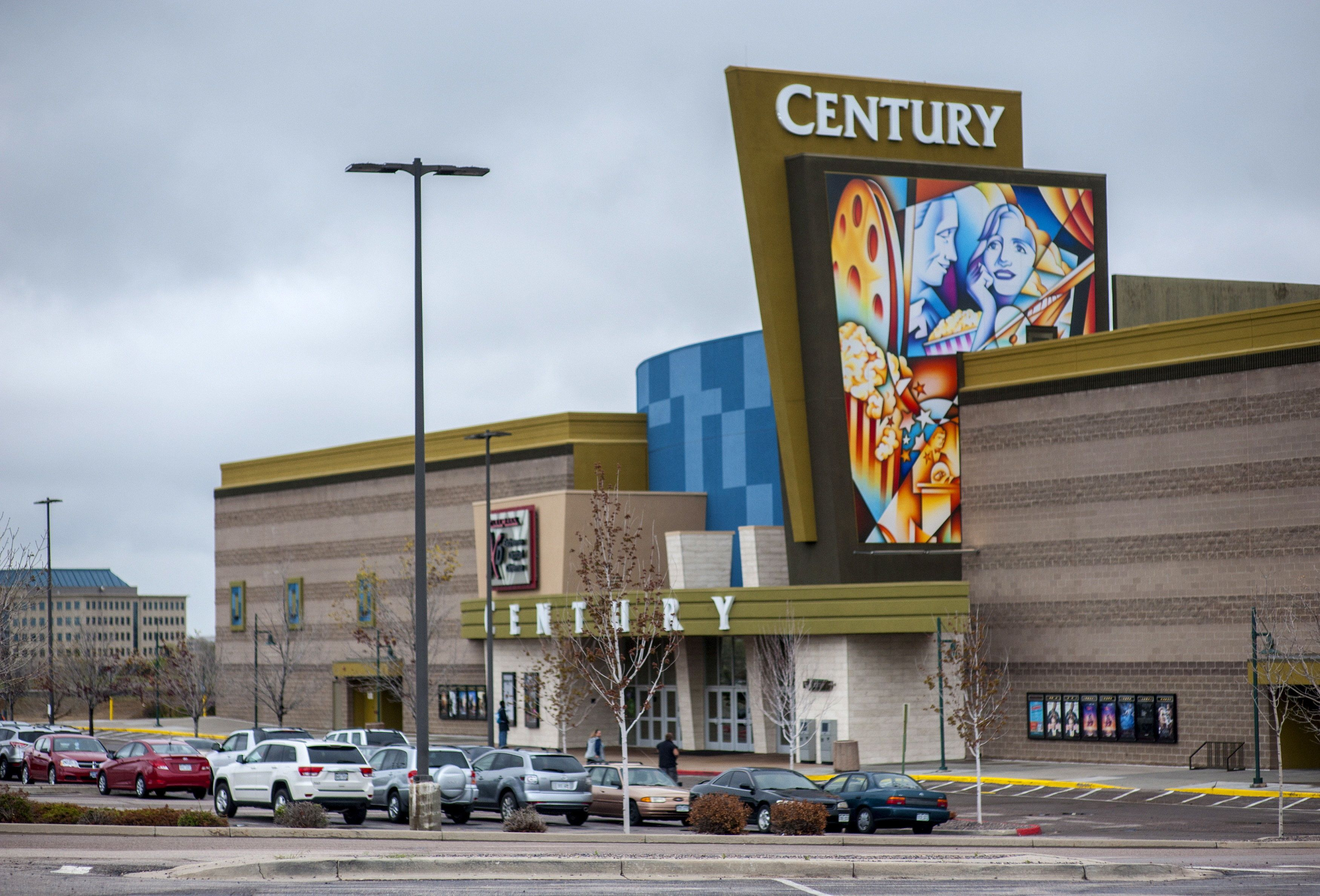 Century Aurora 16 movie theater is pictured in Colorado April 27, 2015. A group of more than two dozen plaintiffs, including surviving victims and relatives of the dead, have sued the movie theater chain Cinemark USA and the cinema's property owners in state court, with jury selection to begin May 9, 2016.  REUTERS/Evan Semon/File Photo