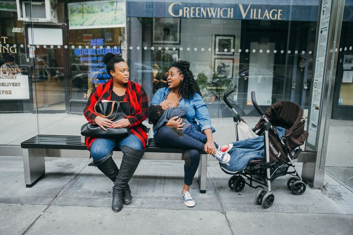 """""""We wanted to createphotography that demonstrates the courage and fortitude of those who choose to breastfeed in public."""""""