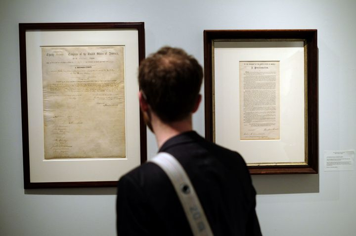 A copy of the Emancipation Proclamation and the 13th Amendment will soon be auctioned.
