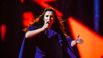 "Ukraine's Jamala performs her winning song ""1944"" during the Eurovision Song Contest final at the Ericsson Globe Arena in Stockholm, Sweden, May 14, 2016. TT News Agency/Maja Suslin/via REUTERS ?ATTENTION EDITORS - THIS IMAGE WAS PROVIDED BY A THIRD PARTY. FOR EDITORIAL USE ONLY. SWEDEN OUT. NO COMMERCIAL OR EDITORIAL SALES IN SWEDEN."