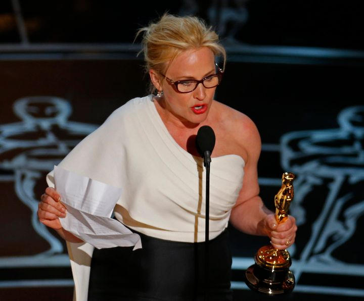 "Patricia Arquette's call for equal pay rallied the country, though she was criticized at the time for her ""privilege."""